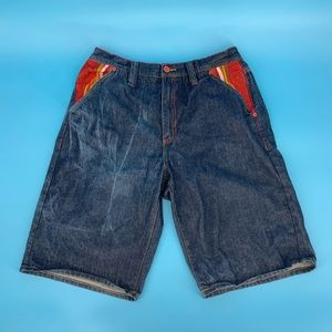 COOGI | Embroidered Denim Jean Shorts